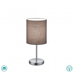 Jerry Table Lamp with Gray Hat and Silver Base
