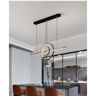 LED Suspended Ceiling Light ALMERIA Black 52W Dimmable 3 Color