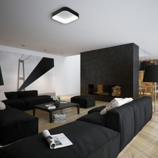 LED ceiling lamp LAS PALMAS Black 50W with color changing and dimmable IP20