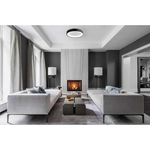 LED ceiling lamp TENERIFE Black 50W with color changing and dimmable IP20