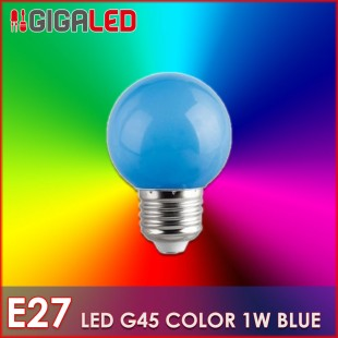 LED Lamp 1W E27-G45-Colour-Blue