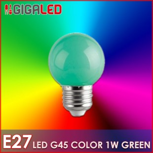 LED Lamp 1W E27-G45-Colour- Green