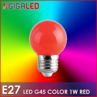 LED Lamp 1W E27-G45-Colour- Red
